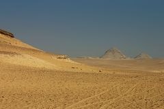 Landscape of Giza desert Royalty Free Stock Photography
