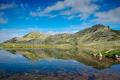Landscape with glacial lake. Glacial lake Tevno ezero at national park Pirin, Bulgaria stock photos