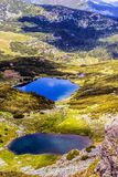 Landscape with a glacial lake in the highlands of Fagaras Stock Photography