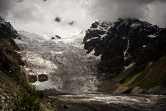 Landscape of glacier in Swanetia region, Royalty Free Stock Photography