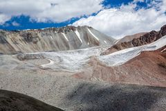 Landscape of glacier in Tien Shan Mountains Stock Image