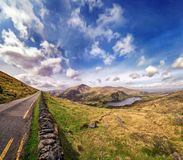 Landscape with Glanmore lake. Freshwater lake in the southwest of Ireland. It is located on the Beara Peninsula in County Kerry royalty free stock photography