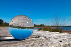 Landscape in glass sphere Royalty Free Stock Images