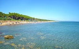 Landscape of Glyfa beach Ilia Peloponnese Greece Royalty Free Stock Images