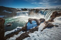 The Landscape of Godafoss Waterfall, Iceland