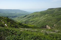 Landscape of Golan Heights Stock Photo