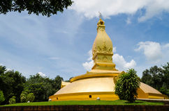 Landscape of golden pagoda Stock Photos