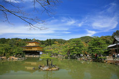 Landscape of Golden Pavilion temple, Kinkakuji Royalty Free Stock Image