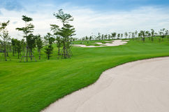 Landscape of golf course Royalty Free Stock Photos