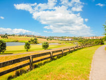 Landscape with golf course Royalty Free Stock Images