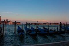 Landscape with gondolas. Venice Stock Photos