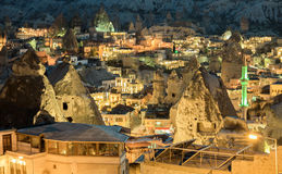 Landscape on GOREME Cappadocia Turkey. Royalty Free Stock Images