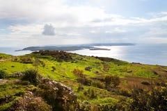 Landscape in Gozo Island, Malta Stock Images