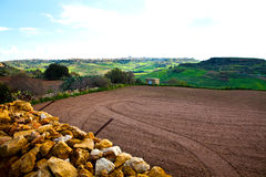 Landscape in Gozo Island, Malta Stock Images