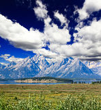 The landscape of Grand Teton National Park Stock Image