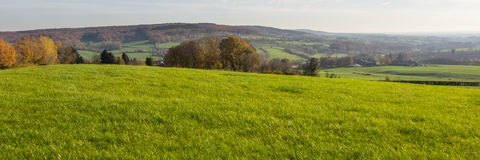 Landscape of grassland and hills Stock Image