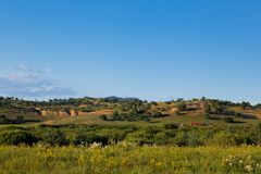 Landscape of grassland in Inner Mongolia Royalty Free Stock Image