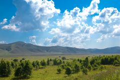 Landscape of grassland in Inner Mongolia Royalty Free Stock Photography
