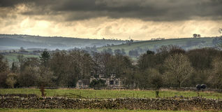 Landscape from Great Longstone in Peak District National Park, England Royalty Free Stock Photos
