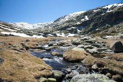 Landscape at gredos mountains Stock Photography