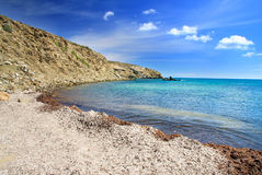 Landscape.Greece. Rhodes. Prasonisi. Royalty Free Stock Image