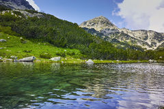 Landscape of Green hills and river in Pirin Mountain Stock Images