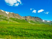 Landscape of the green Iceland Royalty Free Stock Photo