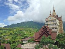 Landscape. Green Mountain in Thailand Royalty Free Stock Images