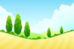 Landscape with Green trees Royalty Free Stock Photography