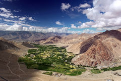 Landscape with green valley in Himalayas Stock Photography