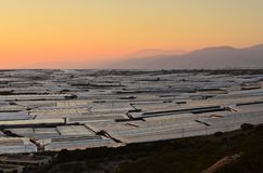 Landscape with greenhouses Almeria Spain royalty free stock image