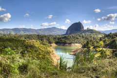 Landscape in Guatape. Landscape at the area of Guatape near Medellin, Colombia Royalty Free Stock Image