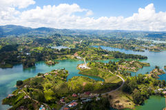 Landscape of Guatape, Colombia stock photography