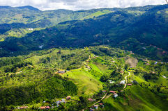 Landscape of Guatape, Colombia. Panoramic view from Rock of Guatape in Medellin, Colombia royalty free stock images