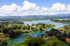 Landscape of Guatape, Colombia Stock Image