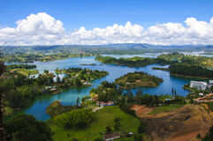 Landscape of Guatape, Colombia Royalty Free Stock Image