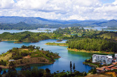 Landscape of Guatape, Colombia Stock Photos