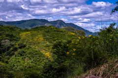 Landscape of Guatemalan mountains stock image