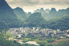 Landscape of Guilin, Karst mountains. Located near Yangshuo, Gui. Lin, Guangxi, China Stock Images