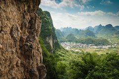Landscape of Guilin, Karst mountains. Located near Yangshuo, Gui. Lin, Guangxi, China Royalty Free Stock Image