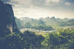 Landscape of Guilin, Karst mountains. Located near Yangshuo, Gui. Lin, Guangxi, China Stock Photos