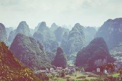 Landscape of Guilin, Karst mountains. Located near Yangshuo, Gui. Lin, Guangxi, China Stock Photo