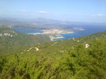 Landscape gulf aranci - Sardegna. The beautiful and famouse gulf on the Italian island of Sardegna royalty free stock image