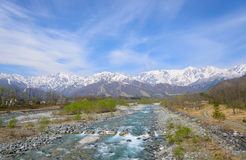 Landscape of Hakuba in Nagano, Japan Royalty Free Stock Photo