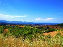 Landscape of Halkidiki Stock Photos