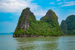 Landscape of Halong Bay with mountain islands. Vietnam, Southeast Asia Royalty Free Stock Photography