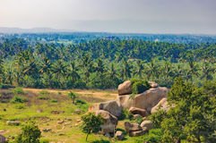 Landscape of Hampi in India stock photo