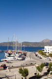 Landscape of harbor Adamas Milos Stock Image