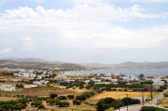 Landscape of harbor Adamas Milos Stock Images