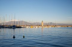 Landscape of the Harbor in Desenzano, Garda Lake Stock Photography